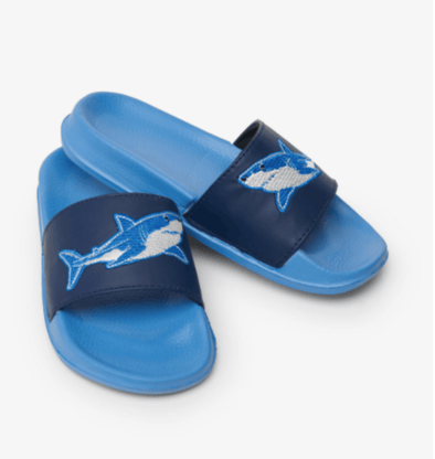 honeypiekids | Hatley Boys Deep-Sea Sharks Slide On Sandals.