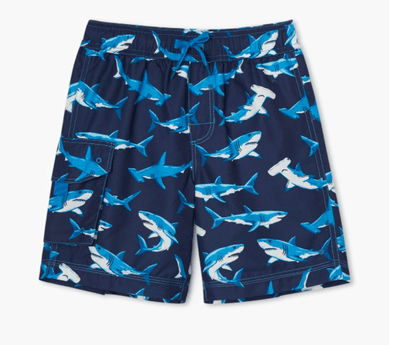 Honeypiekids | Hatley Boys Deep Sea Sharks Swim Shorts
