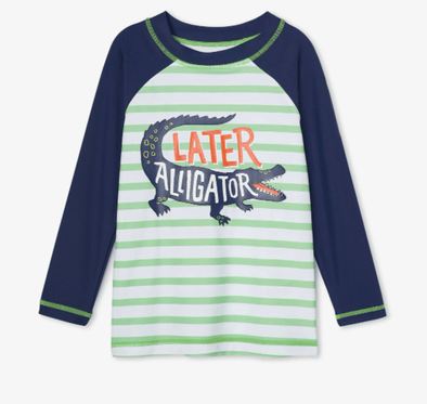 Honeypiekids | Hatley Boys Gator Long Sleeve Rashguard