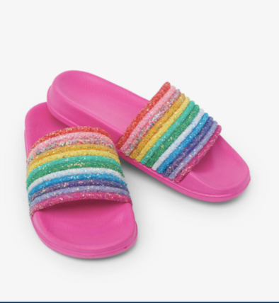 honeypiekids | Hatley Girls Over The Rainbow Slide On Sandals.