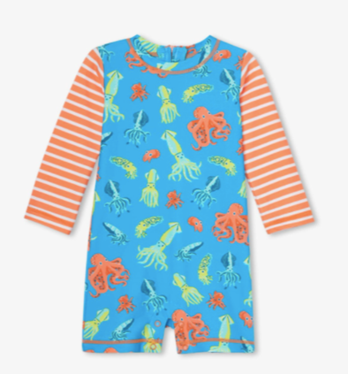 honeypiekids | Hatley Infant Boys Colourful Octopuses One-Piece Rashguard.