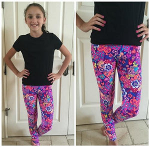 honeypiekids | Hot Pink Heart Printed Leggings