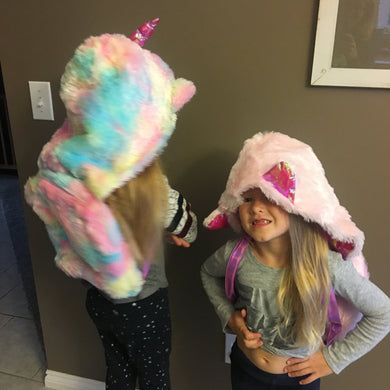 AMERICAN JEWEL FURRY HOODED BACKPACKS | Honeypiekids