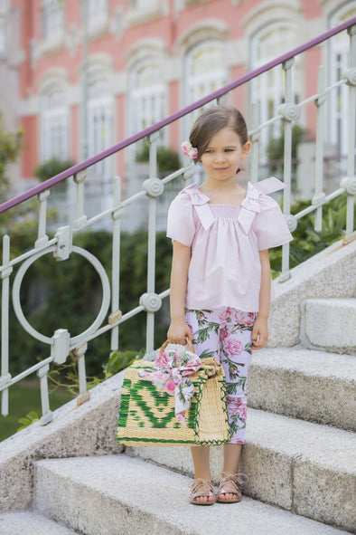 Honeypiekids | Patachou Girls Pink Roses Leggings