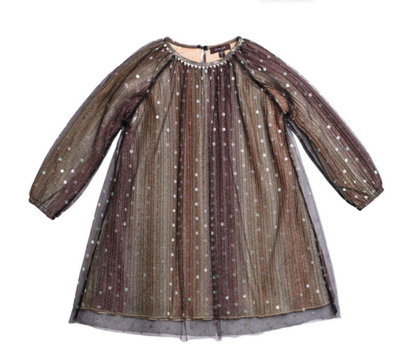 Honeypiekids | Imoga Collection Rosaline Dress In Metallic Gold