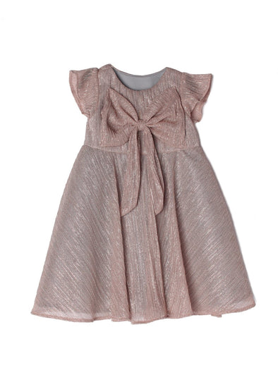 honeypiekids | Isobella and Chloe Dazzling Darling Rose Gold Bow Dress.