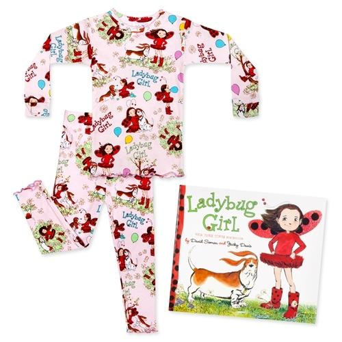 Honeypiekids | Books to Bed LadyBug Girl Pajamas and Book