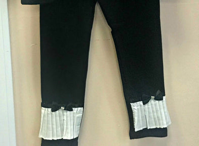 Honeypiekids | MaeLi Rose Black and White Tuxedo Leggings