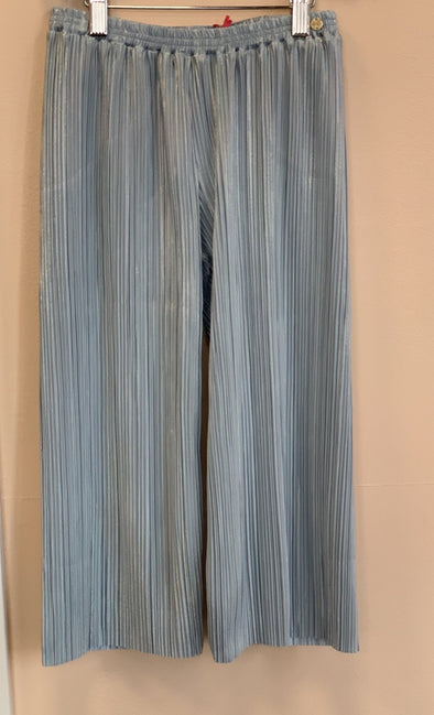 Honeypiekids | Lili Gaufrette Girls Light Blue Pleated Pants