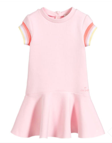 Honeypiekids | Lili Gaufrette Girls Pink Gwendolene Dress