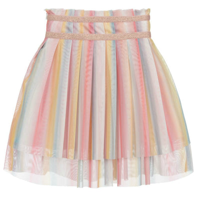 Honeypiekids | Lili Gaufrette Girls Rainbow Grata Skirt
