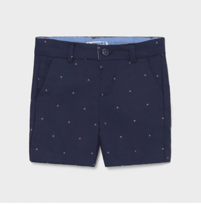 Honeypiekids | Mayoral Baby and Toddler Boy Navy Nautical Jacquard Shorts