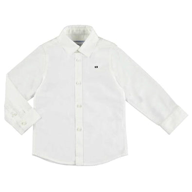Honeypiekids | Mayoral Baby and Toddler Boys Long Sleeve White Oxford Shirt