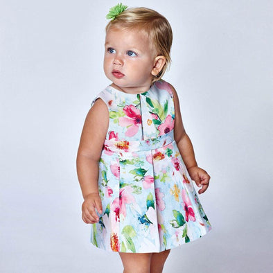honeypiekids | Mayoral Baby and Toddler Girls Ecofriends Ottoman Floral Dress.