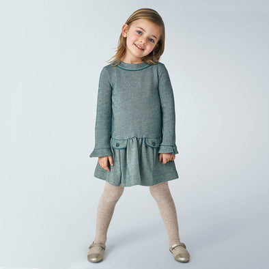 Honeypiekids | Mayoral Girls Lurex Green Dress