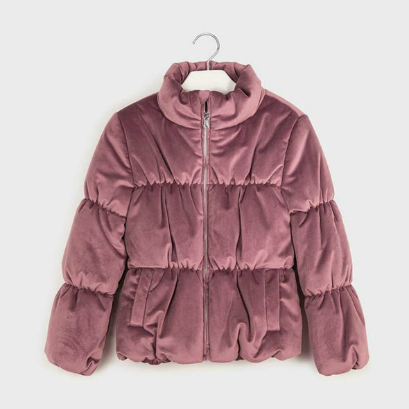 Honeypiekids | Mayoral Girls Mauve Velvet Coat