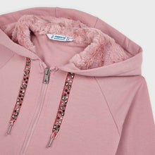 Load image into Gallery viewer, honeypiekids | Mayoral Girls Pink Fur Hood Tracksuit