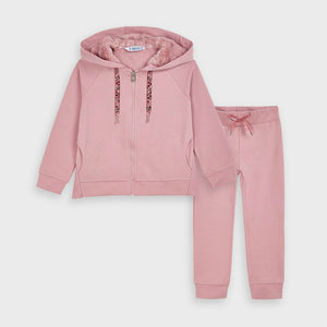honeypiekids | Mayoral Girls Pink Fur Hood Tracksuit