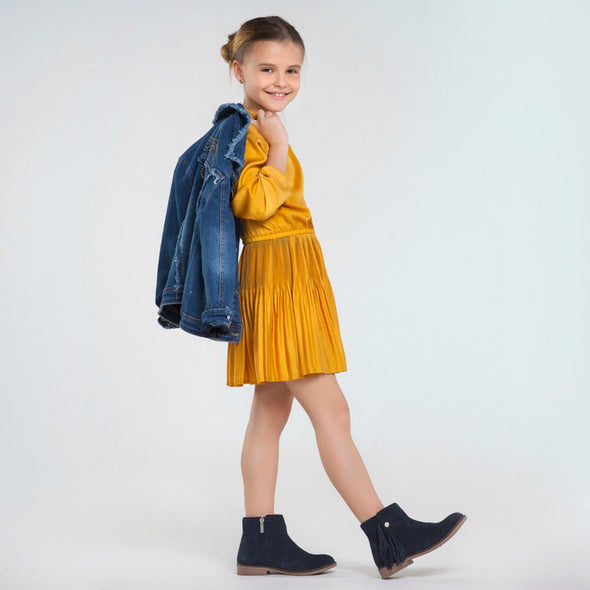 Honeypiekids | Mayoral Girls Pleated Satin Dress