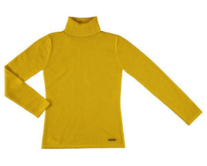 honeypiekids | Mayoral Knitted High Neck Sweater in Mustard