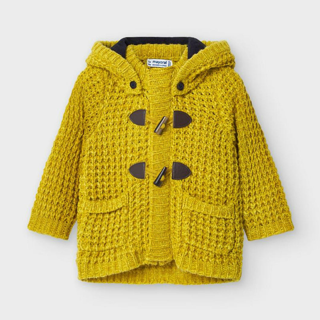 Honeypiekids | Mayoral Baby and Toddler Boys Mustard Woven Knit Jacket