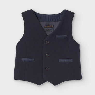 Honeypiekids | Mayoral Baby and Toddler Boys Navy Dress Vest