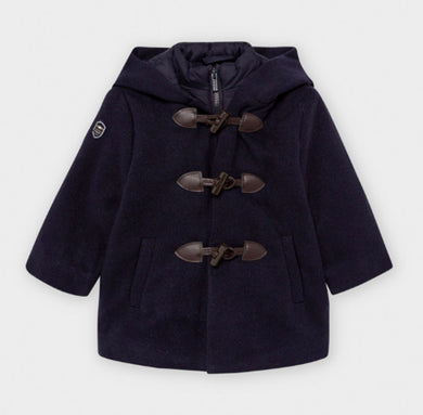 Mayoral Little Boys Navy Duffel Coat | Honeypiekids