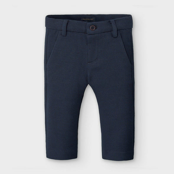 Honeypiekids | Mayoral Baby and Toddler Boys Navy Houndstooth Dress Pants
