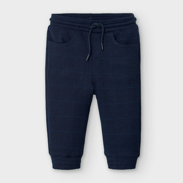 Honeypiekids | Mayoral Baby and Toddler Boys Navy Plaid Long Jogger Pants
