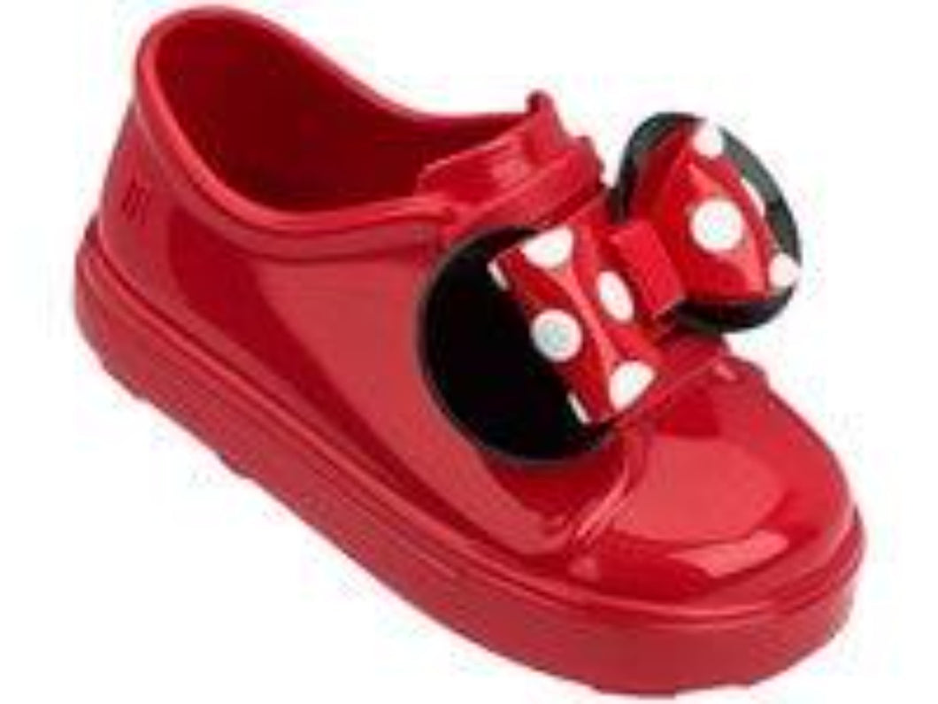 Mini Melissa Toddler's Minnie Slip-On Sneakers in Red | Honeypiekids