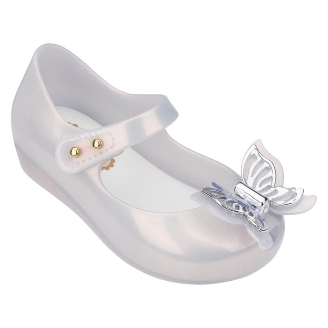 Honeypiekids | Mini Melissa Ultragirl Fly BB in Silver (Toddler Size)