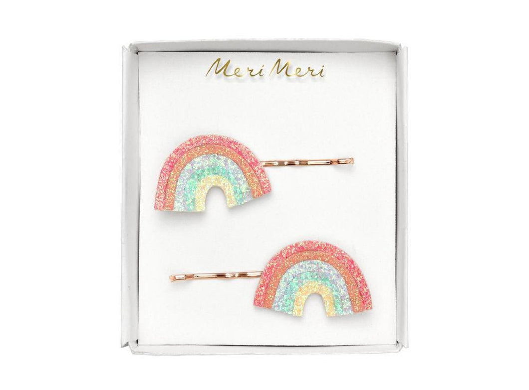 Honeypiekids | Meri Meri Glitter Rainbow Hair Slides