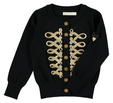 Angel's Face Milly Cardigan In Black | Honeypiekids