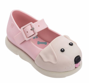 Mini Melissa Puppy Shoes in Pink and Beige | Honeypiekids