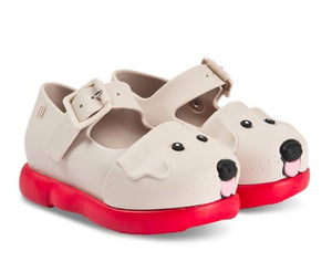 Mini Melissa Puppy Shoes in Red and Beige | Honeypiekids