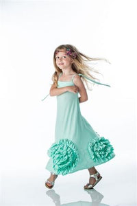 Pixie Girl Full Bloom Maxi Dress in Solid Mint | Honeypiekids