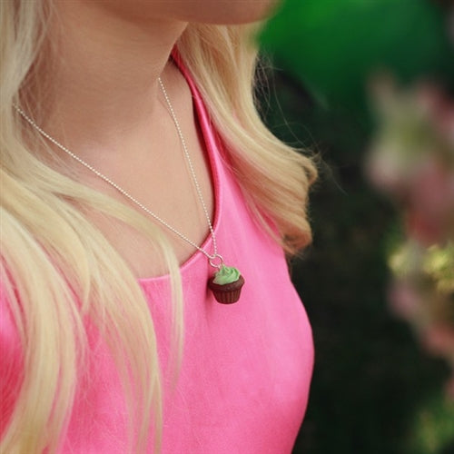 Honeypiekids | Tiny Hands Scented Mint Chocolate Cupcake Necklace