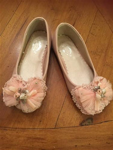 Miss Rose Sister Violet Pink Lace Bow Cinderella Shoes | Honeypiekids