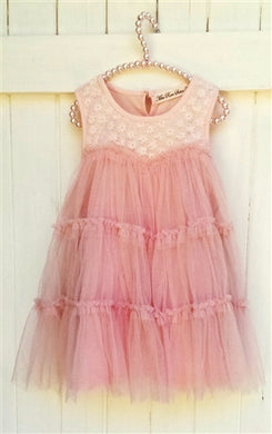 MISS ROSE SISTER VIOLET PINK LACE TUTU DRESS