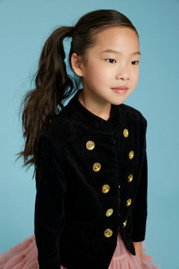 Angel's Face Molly Jacket In Black | Honeypiekids