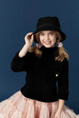 Angel's Face Black Mouse Hat | Honeypiekids
