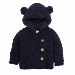 Honeypiekids | Mudpie Infant Boys Navy Sherpa Hooded Coat