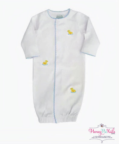 honeypiekids | Mudpie Infant French Knot Duck Sleep Gown.