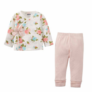 Honeypiekids | Mudpie Infant Girls Muslin Floral 2 Piece Outfit