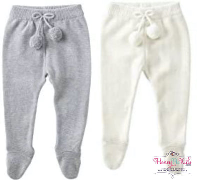 honeypiekids | MUDPIE INFANT KNIT FOOTED LEGGINGS in Multiple Color Choices.