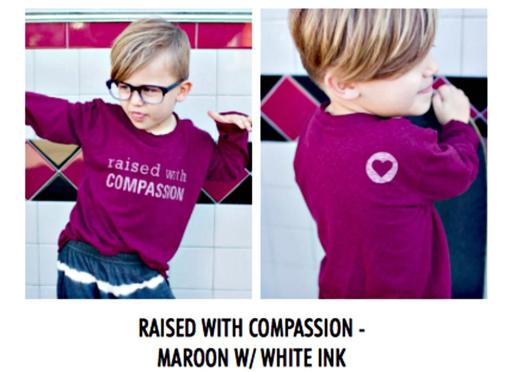 Neve/Hawk Raised With Raised With Compassion LS Shirt | Honeypiekids