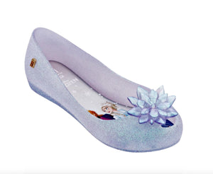 Mini Melissa Frozen Ultra 25 Youth Clear Glitter Bow Shoes | Honeypiekids