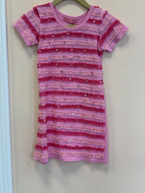 honeypiekids | HavenGirl Pink Soutache Striped Dress