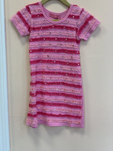 HavenGirl Pink Soutache Striped Dress | Honeypiekids