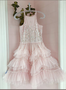 Ooh La La Couture Bianca Dress in Blush | Honeypiekids